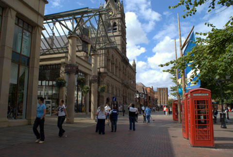 Chester Forum Shopping Centre and Town Hall Square